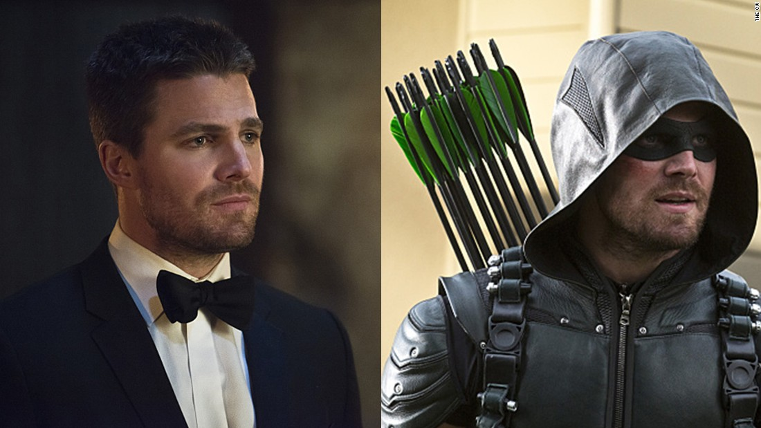 Once a billionaire playboy, Oliver Queen was changed when he was shipwrecked and stranded on an island for five years. He returned to Starling City as the masked vigilante Green Arrow, sworn to protect the city he loves from the evil he knows is out there. To protect his well-known identity, Queen wears an eye mask and a hood and regularly disguises his voice.