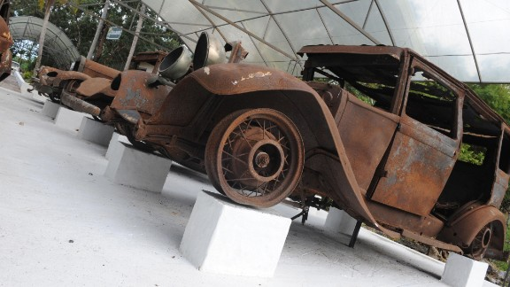 Escobar also collected cars; their rusted-out remains were on display at the ranch-turned-park in 2009.
