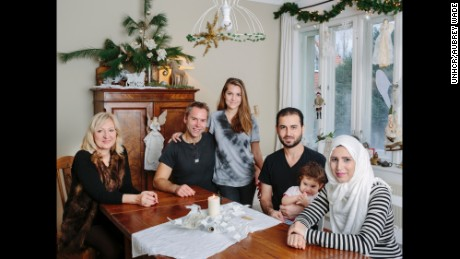 Manuela and Joerg Buisset and their daughter Noemi welcomed Nourhan, Ahmed and their daughter Alin into their home in the summer of 2015. The Syrian couple now has a second baby, Laith.