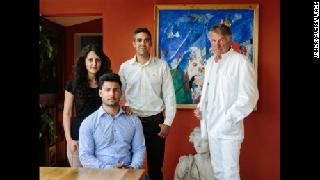 Architect Lars Asklund welcomed Syrian refugees Farah Hilal, Waleed Lababidi and Milad Hilal, into his home.