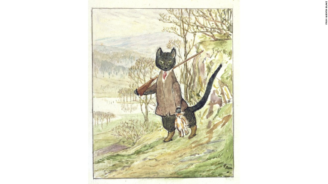 This is the only sketch Beatrix Potter left behind of Kitty. Publishers looked for another illustrator to complete the book.