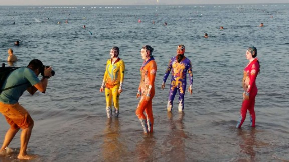 These new Facekini designs are inspired by traditional Peking opera.
