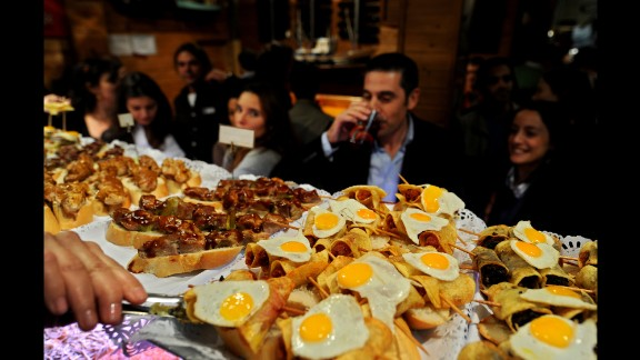 Tapas-eating cultures are also thought to be beneficial by experts as the small portion sizes help limit the quantity of food people consume, lowering their calorie intake.