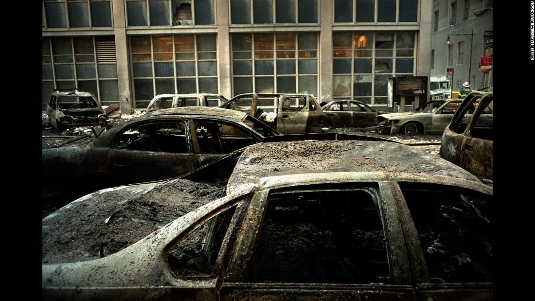 Magnum's Gilles Peress catches the ashen ruins on the streets around the World Trade Center.