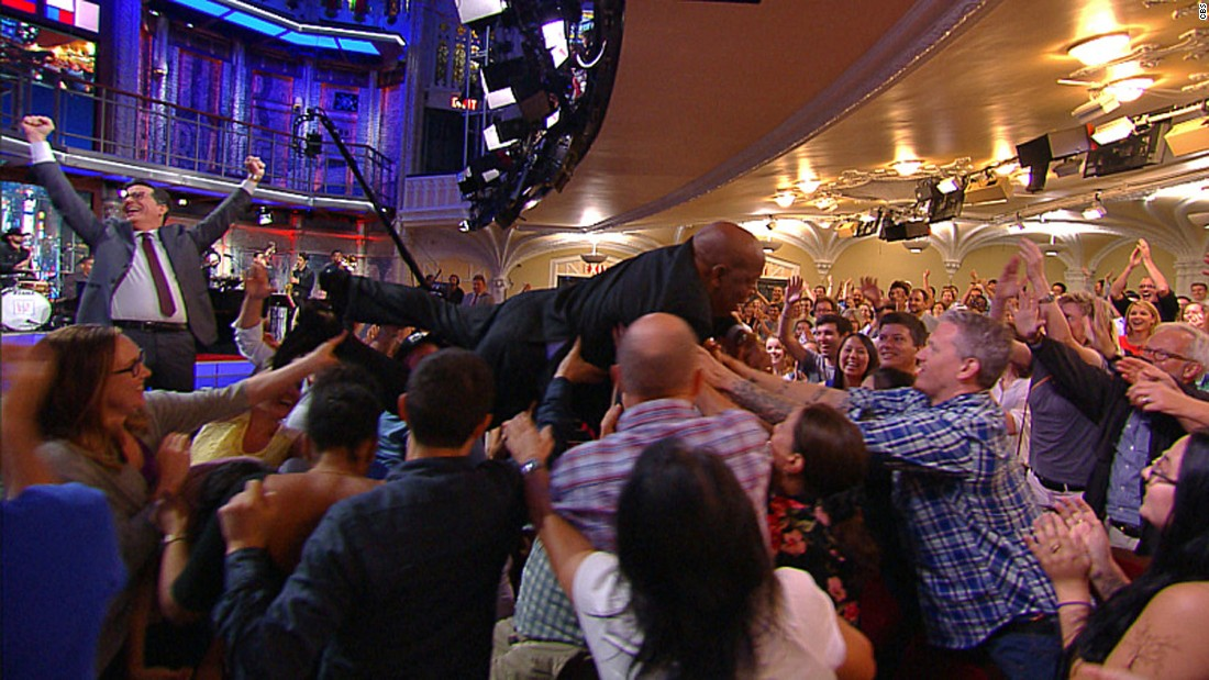"U.S. Rep. John Lewis, a civil rights icon from Georgia, <a href=""http://www.cnn.com/2016/09/01/politics/john-lewis-crowd-surfs-trnd/"" target=""_blank"">crowd-surfs</a> during a taping of ""The Late Show with Stephen Colbert"" on Wednesday, August 31."