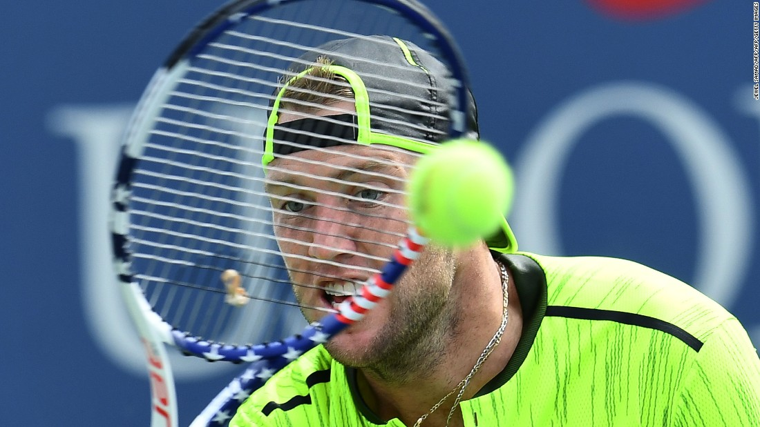 Jack Sock took out 2014 winner Marin Cilic 6-4 6-3 6-3, two weeks after Cilic won the prestigious Cincinnati Masters.