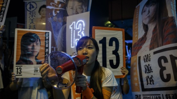 Kowloon West lawmaker Yau Wai-ching was among several young former Umbrella Movement activists elected.