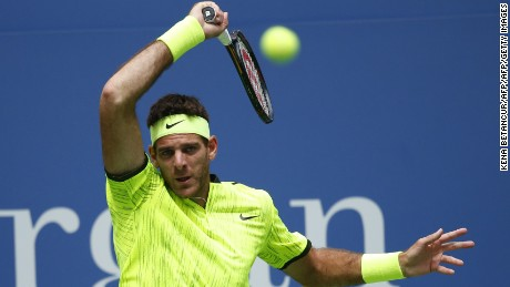 Del Potro has had a strong second half of the season with Olympic singles silver, a US Open quarterfinals spot and his first title in more than two years.