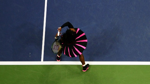 Serena Williams takes the court for the US Open Womens Singles match on September 1.