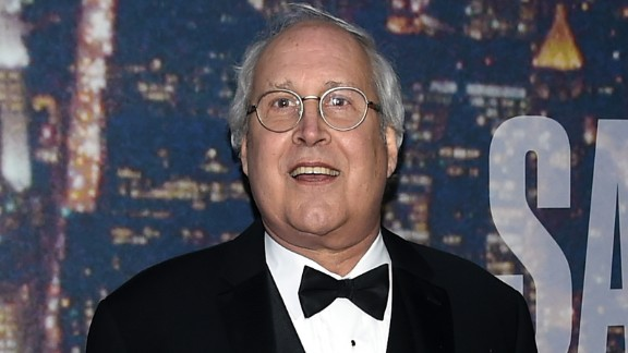 Comedian Chevy Chase attends SNL 40th Anniversary Celebration at Rockefeller Plaza on February 15, 2015 in New York City.
