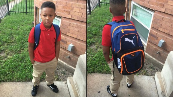 """""""Son ready for first day of school(2nd grade)Lord I plead your blood over his life protect him and those around him as he go to and from in this crazy city of Chicago (southside) in Jesus mighty name Amen"""""""
