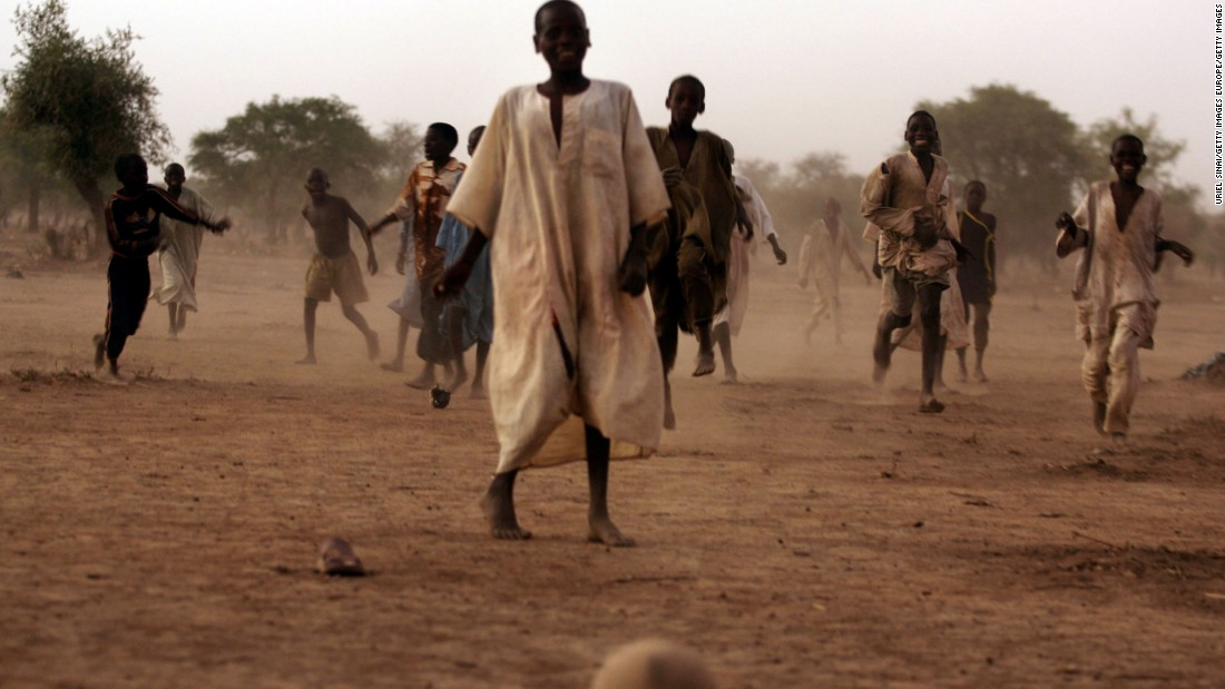 Soccer is by far the most popular sport in Chad, and is played across the country, including during this game in Habile refugee camp.