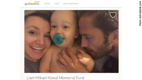 Liam Kowal pictured with his family.