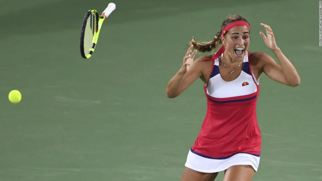 Puig, who has never reached the quarterfinals of a grand slam tournament, was a shock winner of the women's singles event.