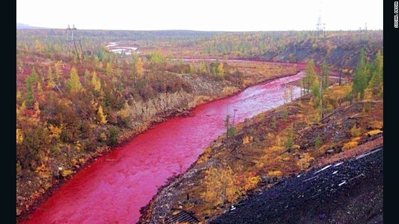 Crimson Tide Residents Stunned As Russian River Turns Red CNN - River in russia
