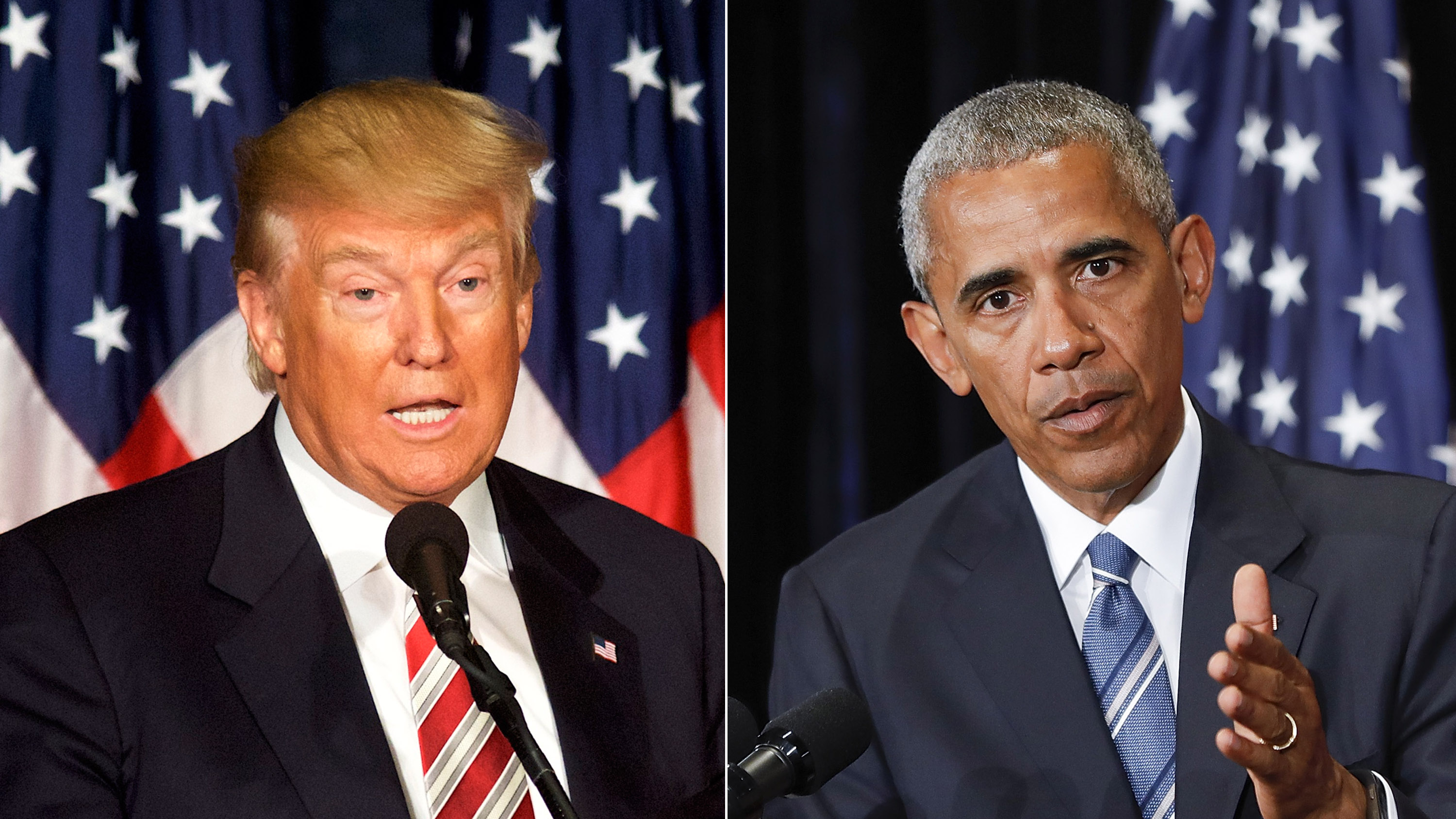 Image result for obama trump split screen