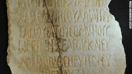 An associate professor from Brigham Young University has translated a 1,700-year-old inscription.