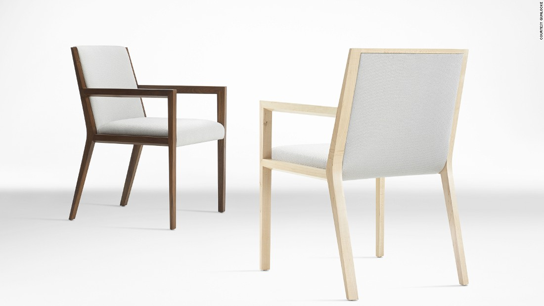 "Also larger businesses such as furniture makers <a href=""http://www.gunlocke.com/index.html"" target=""_blank"">Gunlocke</a> use the material to make the seat backs on a range of arm chairs, pictured."