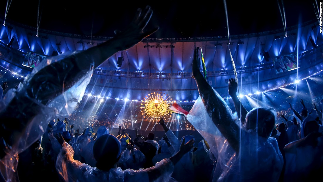 "A crowd watches a performance during the <a href=""http://edition.cnn.com/2016/09/07/sport/paralympics-opening-ceremony-rio-2016-5-things/index.html"" target=""_blank"">Opening Ceremony of the Paralympic Games</a> at Maracana Stadium in Rio de Janiero on Wednesday, September 7."