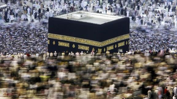 Muslim pilgrims perform the
