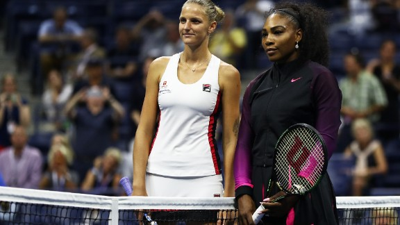 In their lone previous meeting, Williams, right, beat Pliskova in California.