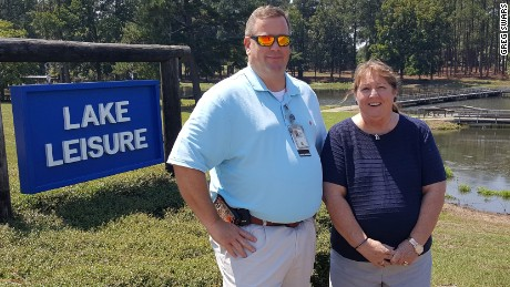 Greg Senters, VA social worker, and Dr. Carol A. Rueter, RN, Hospice Care Unit Nurse Manager
