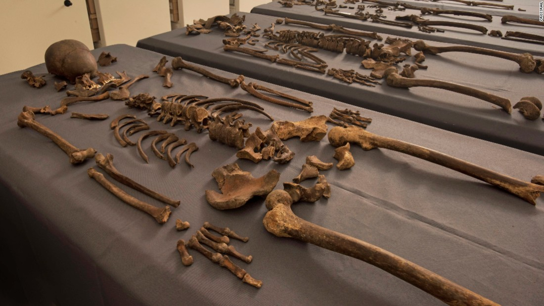 Scientists examined samples from 20 skeletons, looking for for traces of the plague pathogen Yersinia pestis, which they found in five of the individuals, confirming they had been exposed to it before they died.
