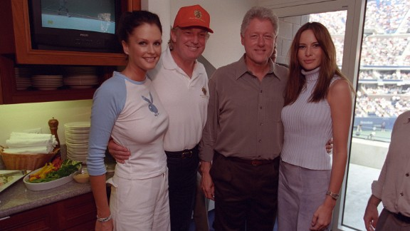 This photo includes Melania Knauss, now Trump