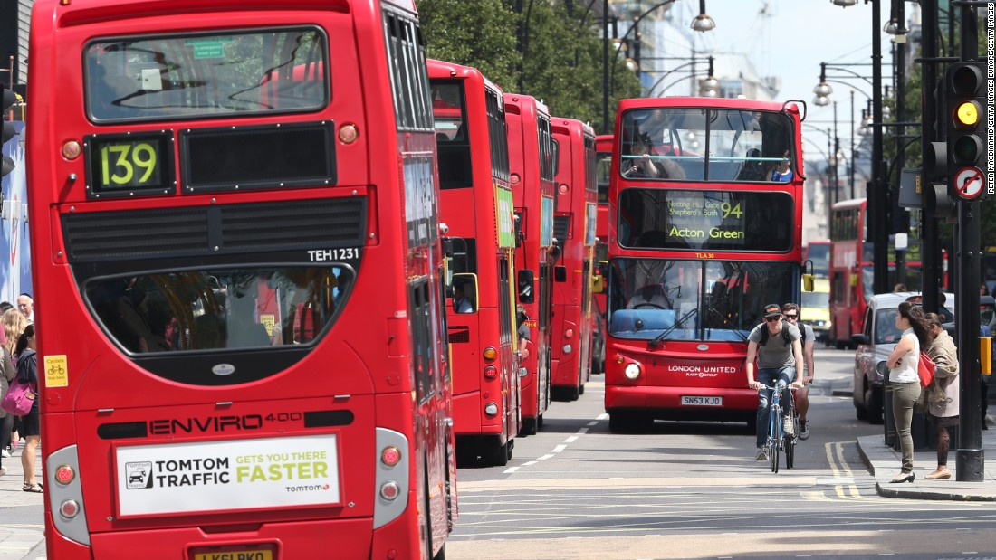 Heavy bus traffic is a leading contributor to poor air quality around Oxford Street. There can be 300 buses on the road at any one time, often using high-polluting diesel engines.