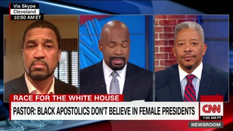 Pastor: black apostolics don't believe in female presidents _00015829