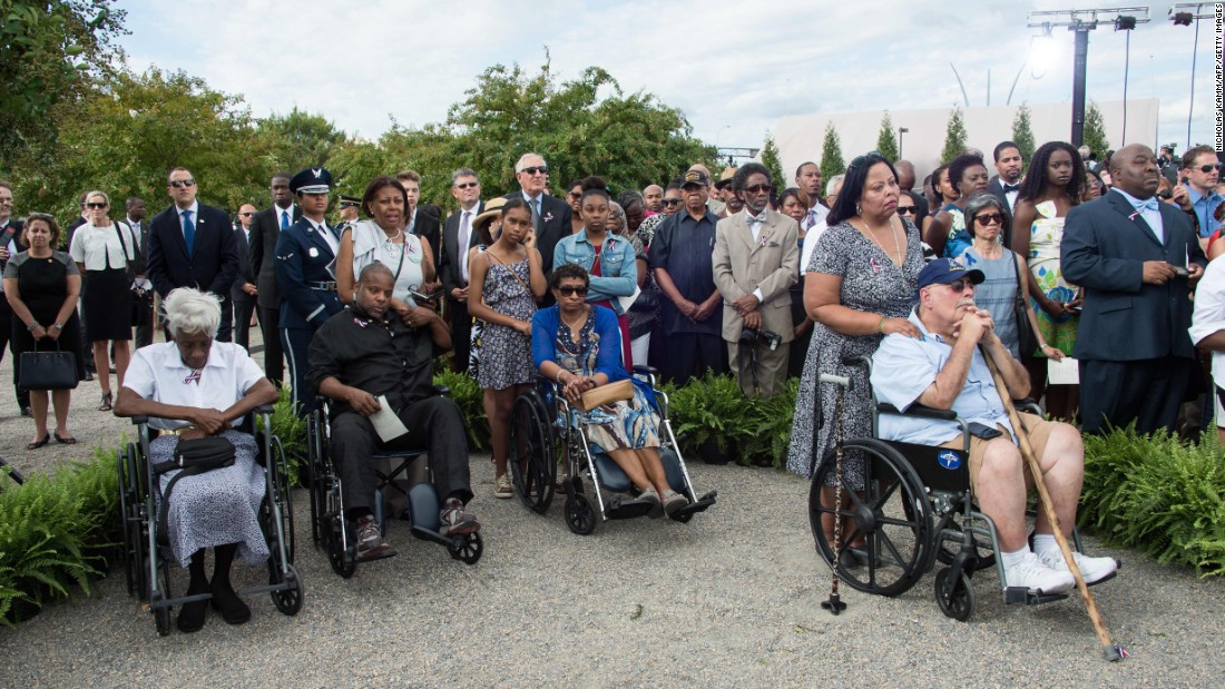 People attending Sunday's ceremony at the Pentagon.
