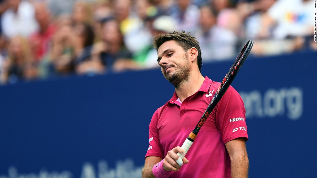 Wawrinka was struggling with his game, including his serve.