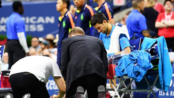 Djokovic began to wilt physically, needing a pair of medical timeouts in the fourth set. There was no coming back.