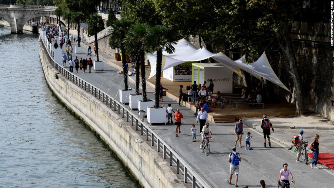 Khan is an admirer of Paris Mayor Anne Hidalgo, who has taken bold steps such as implementing car free days and creating a large, new pedestrian zone on the River Seine.