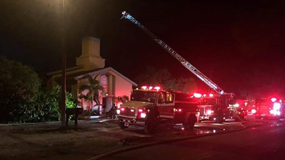 Authorities are investigating the fire that broke out shortly after midnight.