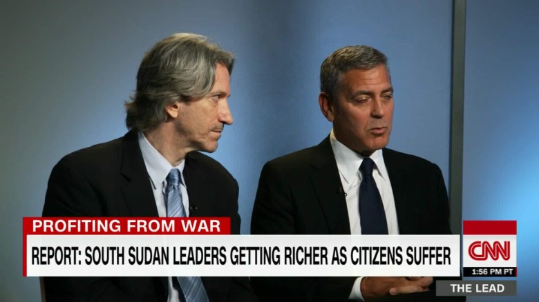 report: south sudan's leaders profit from war george clooney john prendergast tapper the lead_00020619