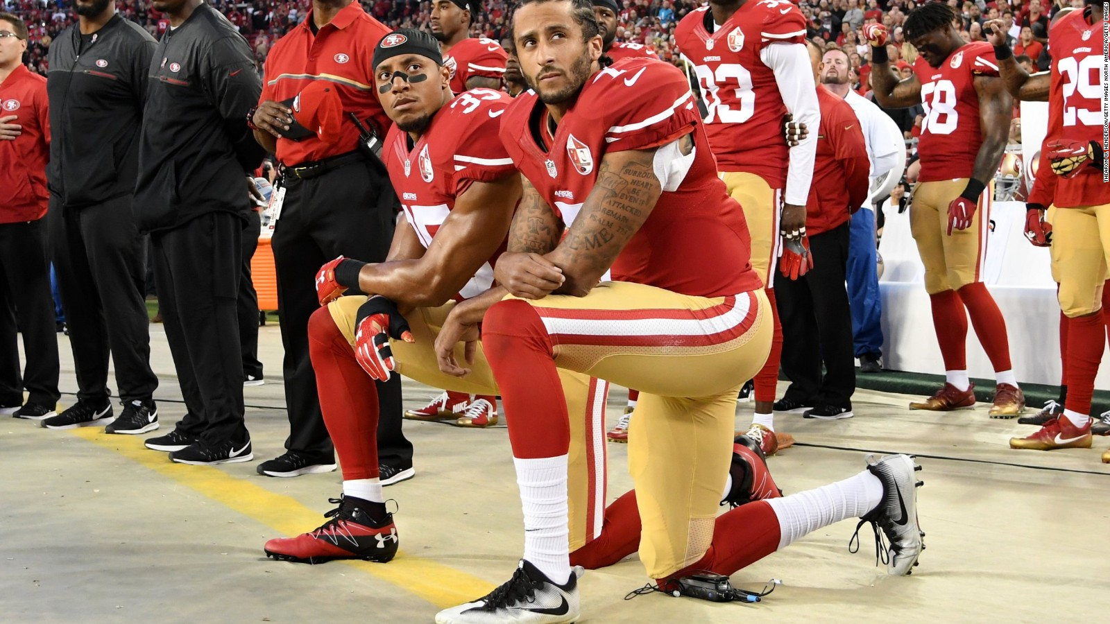 Colin Kaepernick Anthem Protest Reactions On Nfl S Opening Day Cnn