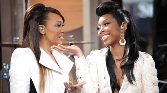 "Singers Monica and Brandy reunited in 2012 for a new song, ""It All Belongs To Me."" Their original duet, 1998"