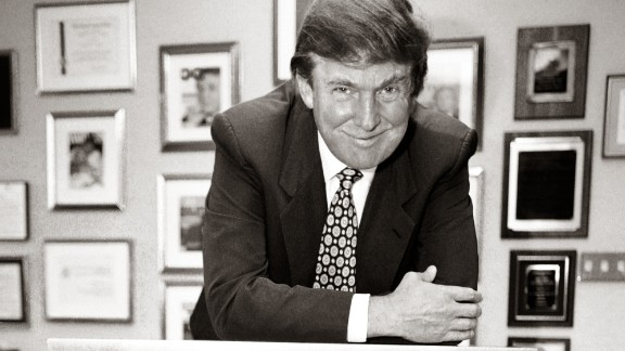 Donald Trump in his Trump Tower office in 1996.