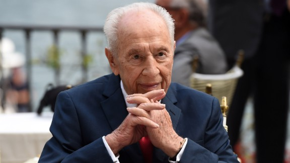 "Former President of Israel Shimon Peres attends the Ambrosetti International Forum on September 2, 2016, in Cernobbio, Italy.  ""There"