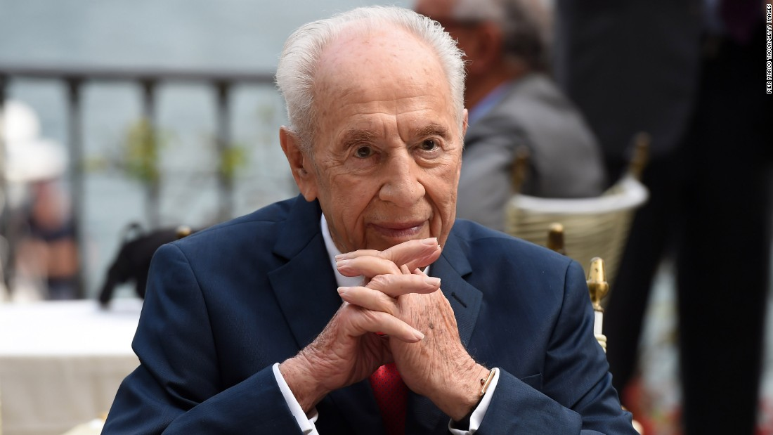 "Former President of Israel Shimon Peres attends the Ambrosetti International Forum on September 2, 2016, in Cernobbio, Italy.  ""There's no corner of this country that he hasn't touched,"" Zionist Union Chairman Isaac Herzog said of the elderly statesman. ""The greatness of Shimon Peres is that he is beyond age. Everywhere he goes around the world, people listen to him."""