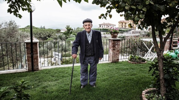"Vincenzo Baratta, 103, who also lives in Acciaroli, said there are two secrets to his long life. One is his diet; the farmer eats only once a day and avoids meat. He eats some fish and homemade pasta and has only one glass of wine per day. His other key: having ""a lot of women in his life."" A neighbor said he has gone through several caregivers because he made so many passes at them."