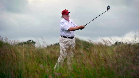 President-elect Donald Trump enjoys playing golf.