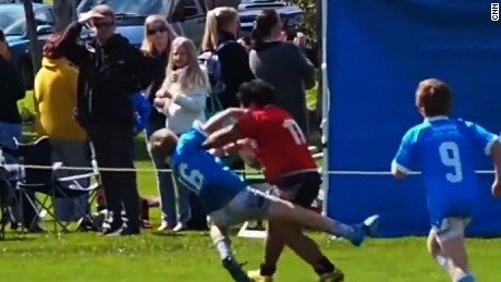 Watch 8-year-old rugby star plow through competition