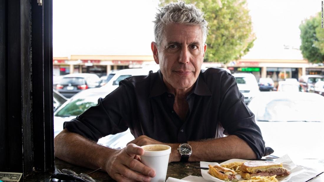 A New York deli set out Anthony Bourdain's usual breakfast order