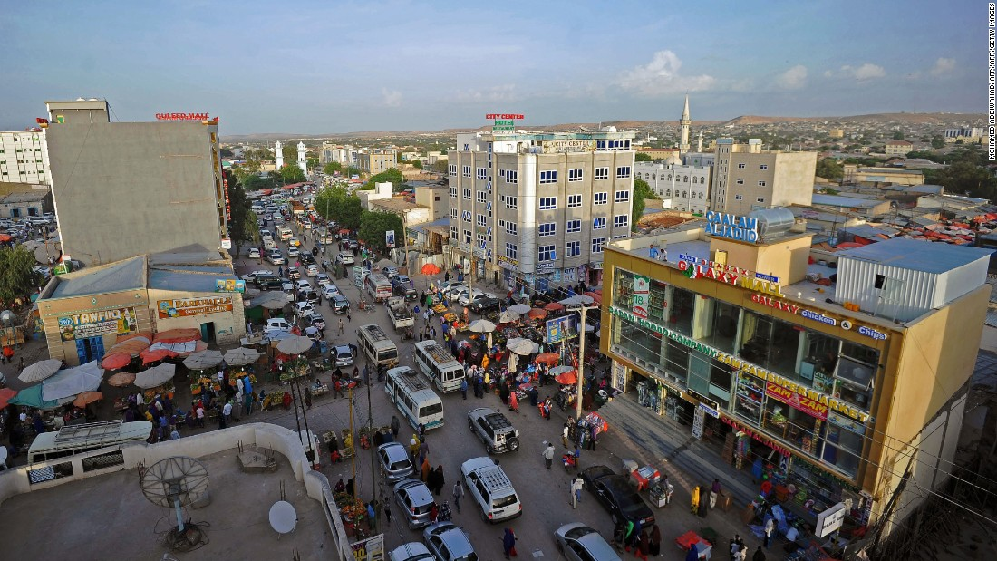 Downtown Hargeisa in the week before the independence day celebrations. The fast-growing city is home to almost a million residents. Somaliland is considered a relatively safe haven as the rest of Somalia remains plagued by conflict.