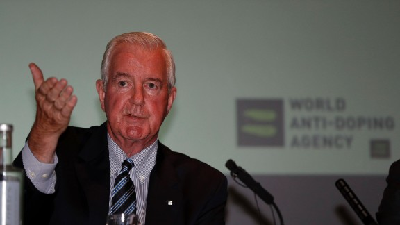 Sir Craig Reedie, President of World Anti-Doping Agency (WADA) speaks at a media symposium at Lord