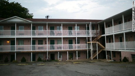 The motel where recovering heroin addict Will Lockwood had his last overdose.