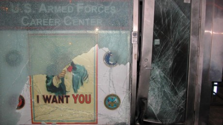 The Armed Forces Recruiting station where the blast went off in 2008.