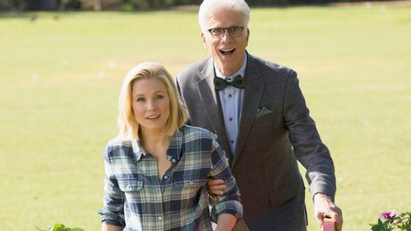 """Kristen Bell and Ted Danson star in """"The Good Place"""" on NBC."""